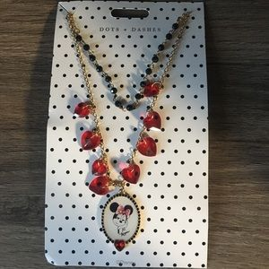 Minnie Mouse Double chain necklace!